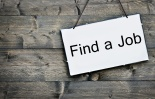Find a job on wooden table