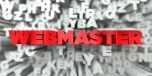 WEBMASTER -   3D stock image of Red text on white background