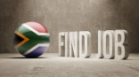 South Africa. Find Job  Concept