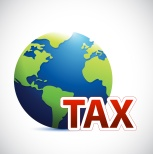 International tax sign concept illustration