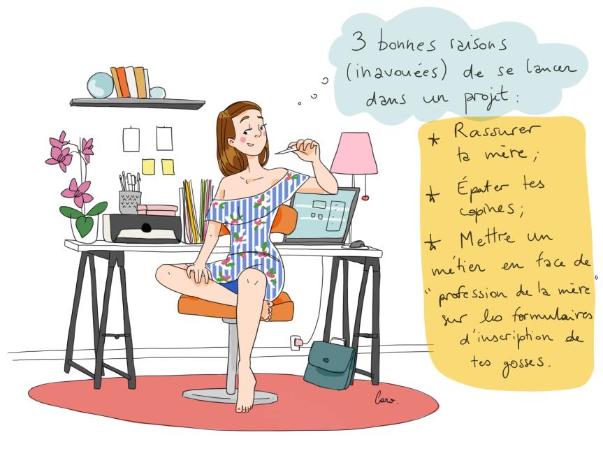 3 bonnes raisons projet - Caroline Gaujour